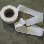 White Plastic Flag Ribbon